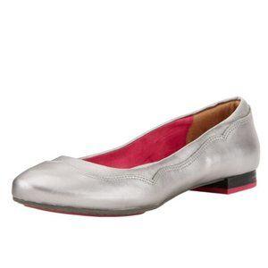 ARIAT Audrey Metallic Silver Flats Leather 7.5